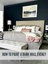 how to paint a dark wall evenly tauni