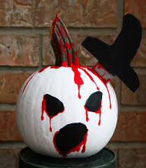 scary painted pumpkin