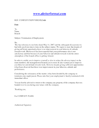 Sample Of A Termination Letter To An Employee Job Dismissal Letters Under Fontanacountryinn Com
