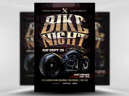 motorcycle club flyers bike night flyer template flyerheroes