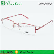 reliable quality fashion design promotion metal lady optical frames spectacle for india market