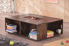 wood crate furniture. Solid Wood Crate Coffee Table Furniture