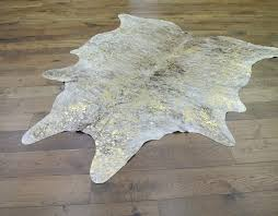 exotic light natural gold cowhide metallic cowhide rug metallic cowhide rug pottery barn brown and white gold metallic cowhide cm114 metallic cowhide rug
