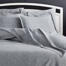 pure linen pinstripe blue duvet covers