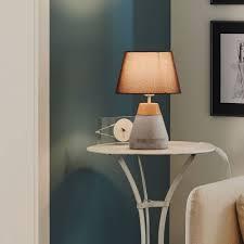 in concrete lighting. Brilliant Concrete Tarega Concrete And Wood Table Lamp Throughout In Lighting