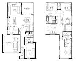 Small Picture 4 Bedroom Apartmenthouse Plans Simple House Floor Four Bedrooms