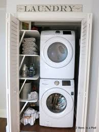 Backyards : Laundry Closet Ideas Save Space And Get Organized In ...