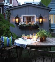 Outdoor: Small Colorful City Balcony Ideas - Patio