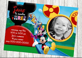 mickey mouse clubhouse invitations for special birthday party mickey mouse invitations design