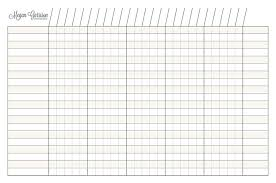 Blank Chart Template 10 Best Images Of Date And Blank Charts Printable With 6 Columns
