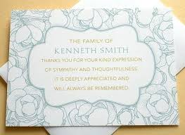 Personalized Sympathy Thank You Cards Personalized Funeral Thank You Cards Templates Free Sympathy Card