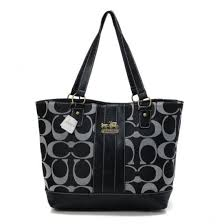 Coach Legacy Logo In Monogram Medium Black Totes BPT,coach sales associate  salary,Unbeatable Offers