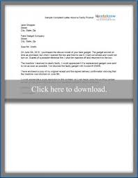 sample complaint letter lovetoknow sample complaint letter about faulty product