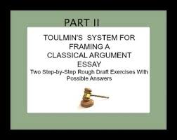 toulmin teaching resources teachers pay teachers  toulmin s courtroom system for framing classical argument essays ii