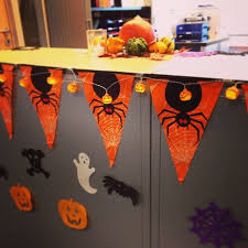 halloween office ideas. halloween office decorations using mini lanterns pumpkins and rechargeable tea lights ideas w