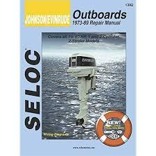 johnson outboard repair manual amazon com johnson evinrude outboards 1973 89 repair manual