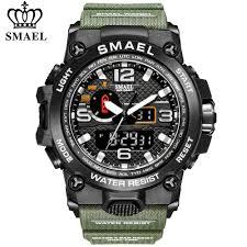 <b>SMAEL</b> Mens Watches <b>Top Luxury Brand</b> Sports Watch Waterproof ...