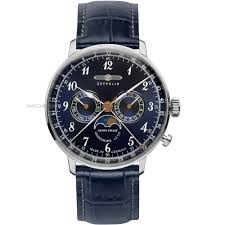 "men s zeppelin hindenburg moonphase watch 7036 3 watch shop comâ""¢ mens zeppelin hindenburg moonphase watch 7036 3"