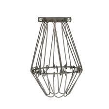 lighting cage. Flex Light Bulb Cage - Raw Metal Lighting