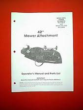 gilson outdoor power equipment manuals & guides ebay Lawn Boy Re12e Engine Start Wiring Diagram gilson tractor 42\