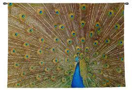 royal peacock wall tapestry small