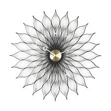 sunflower clock nelson  vitra  ambientedirectcom