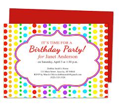 Birthday Party Invitation Card Template Free Example Birthday Party Invitation Under Fontanacountryinn Com