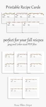 Recipe Cards Printable 4x6 Cards To Organize Your Favorite Recipes