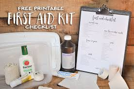 free printable first aid kit checklist wit wander