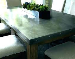 round zinc dining table awful galvanized metal top dining table tables marvelous round zinc inside indore