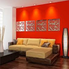 Small Picture living room design with red accent wall and mirrors Ideas for
