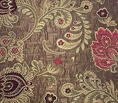 Floral Brocade Burgundy And Pink Floral Brocade 58 Inch Fabric