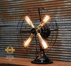 steampunk lighting. Steampunk Industrial / Antique Fan Lamp Star Rite Lamp #1920 Steampunk Lighting O