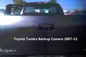 Toyota Tundra Backup Camera 2007-13 for aftermarket radios (Handle ...