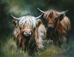 Highland Cow Art limited edition prints by Hilary Barker at Mid Torrie Farm  Callander in Scotland. - Highland Co… | Highland cow art, Highland cow  painting, Cow art