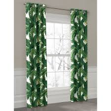 green banana leaf grommet outdoor curtain loom decor