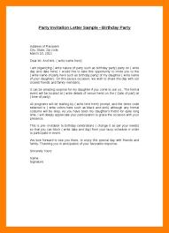 Celebration Letter Celebration Invitation Letter 24 Invite Birthday Party Current 18