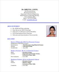 Resume Formate Interesting Resume Format Standard Marieclaireindia