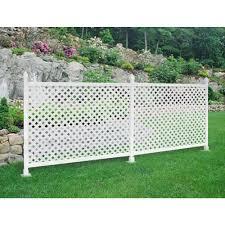 vinyl lattice fence panels. W White Modular Vinyl Lattice Fence Panel (4-Pack)   Panels, And Panels
