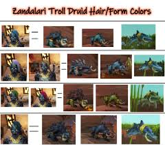Troll Druid Color Chart Threw Together A Quick Thing Showing The Hair Form Options