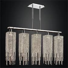 linear crystal chandelier. Linear Crystal Chandelier | Chelsea 645AM5LSP-7 A