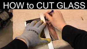 how to cut mirror glass quick