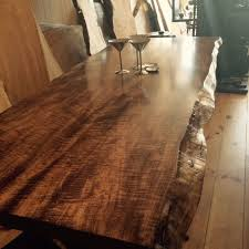 maple wood dining room table. live edge dining table inspiration for your room maple wood