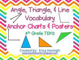 Angle Triangle Line Vocabulary Anchor Charts Foldables 4th Grade Teks