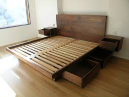bedroom cal king platform bed frame with drawers cal king