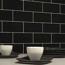 Black Glass Subway Tile