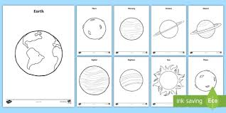 Small Picture Planets Coloring Pages space outer space planets solar
