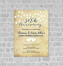 50th wedding anniversary invitation string of lights 50th anniversary invites