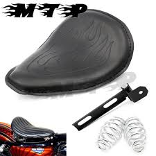 motorcycle flame solo seat w mounting bracket springs kit for