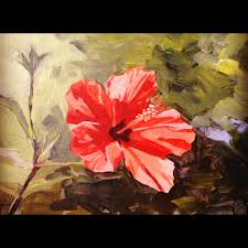 step5 tagged acrylic painting flower hibiscus process tutorial